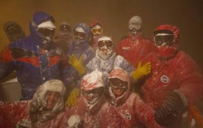 Des héros dans le blizzard