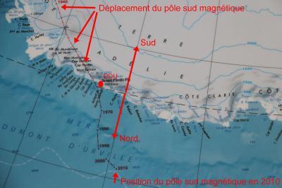 P sud magnetique